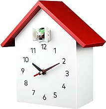 MXCYSJX Vivid Large Cuckoo Clock - White