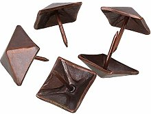 Mxfans 50 x Red Bronze Furniture Decorative Nails