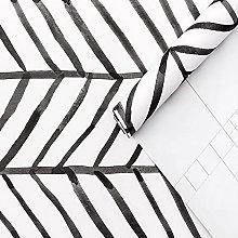 MXFFW Modern Striped Peel and Stick Herringbone