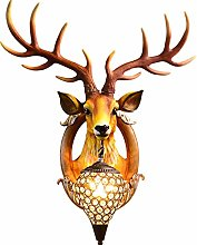 MXGP Retro deer antler wall lamp Elk restaurant