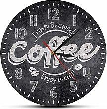 MXHJD-Coffee Enjoy A Cup Of Wall Clock Coffee