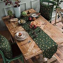 MXmama Linen Cotton Green Table Runner Placemat
