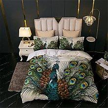 MXSS 3D Printed Peacock Flower Pattern Bedding Set