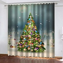 MXYHDZ Blackout Curtains for Bedroom - Christmas