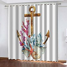 MXYHDZ Blackout Curtains for Bedroom - Coral Conch