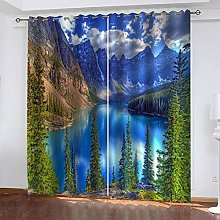 MXYHDZ Blackout Curtains for Bedroom - Mountain