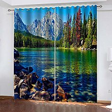 MXYHDZ Blackout Curtains for Bedroom - Mountains