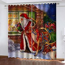 MXYHDZ Blackout Curtains for Bedroom - Santa Claus