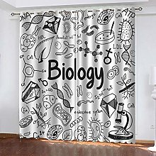 MXYHDZ Blackout Curtains for Bedroom - Science