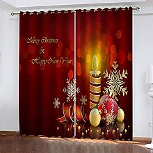 MXYHDZ Grommet Blackout Curtains for Bedroom - Red