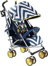 My Babiie MB02 Chevron Stroller - Blue