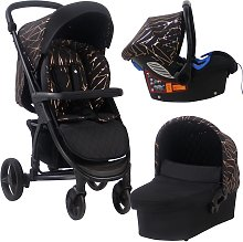 My Babiie MB200+ Travel System - Black and Gold