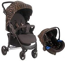 My Babiie MB30 Rose Gold Black Pushchair and Car