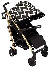 My Babiie MB51 Gold Edition Chevron Stroller, One