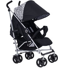 My Babiie Sam Faiers MB02 Leopard Stroller - Black