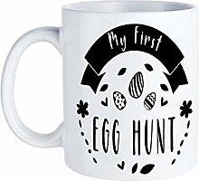 My First Egg Hunt Black White Novelty Coffee Mugs