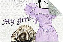 My Girl Cloakroom Door Mat, Machine Washable Soft