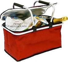 My Home Thermal Shopping Basket Red