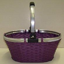 My Home Woven Basket Oval Purple