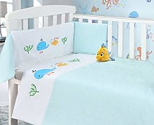 My Little World Blue Whale Baby Bale Bedding Set