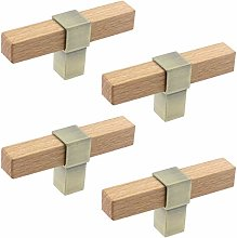 MY MIRONEY 4-Pack Modern T Style Cabinet Knobs