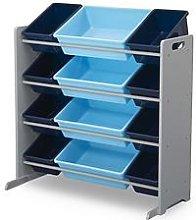 My Size 12 Bin Plastic Organiser- Blue