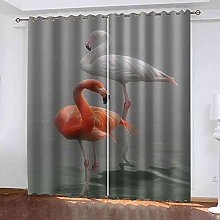 MYCAVE Blackout Curtains 2 Panels for Bedroom Red
