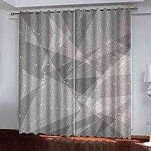 MYCAVE Grommet Blackout Curtains Drapes for