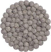 myfelt Carl Felt Ball Pan Trivet, Virgin wool,