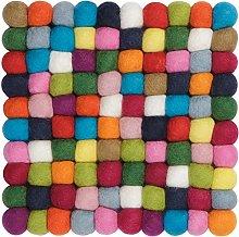 myfelt Lotte Trivet Square Felt Ball, Virgin wool,