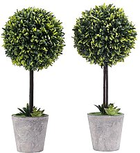 MyGift Artificial Boxwood Topiary Tree in Modern