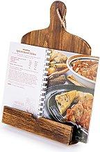 MyGift Cutting Board Style Wood Recipe Cookbook