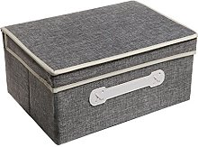MyGift Decorative Gray Woven Collapsible Fabric