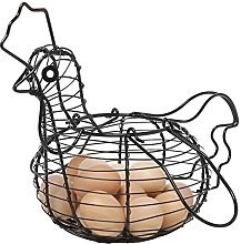 MyGift Farmhouse Style Black Metal Wire Chicken