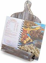 MyGift Rustic Farmhouse Torched Wood Cookbook iPad