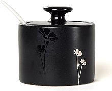 MYITIAN Hand-painted ceramic Spice jar with lid