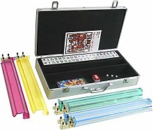 MYJZY American Mahjong Set,Silver Aluminum Mahjong