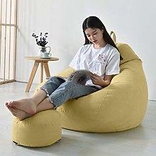 MYJZY Bean Bag Sofa Chair with Footstool,Soft