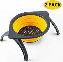 MYJZY Collapsible Colander with Bracket,Sink Drain
