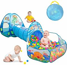 MYJZY Pop Up Kids Play Tent with Crawling Tunnel