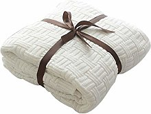 MYLUNE HOME 100% Cotton Stylish Knitted Throw