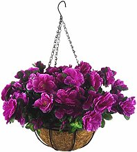 Mynse Artificial Flower Hanging Basket for Home