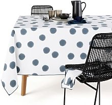 Myoko Washed Cotton Patterned Tablecloth by La