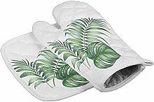 Myrdora Set Of Oven Mitt And Pot Holder Green