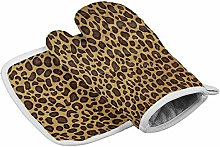 Myrdora Set Of Oven Mitt And Pot Holder, Leopard
