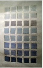 MYRIAD RUG - SILVER/BLUE - 3ft x 5ft