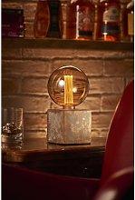 Mysa Modern Contemporary Bronzed Effect Stone