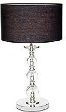 Mystic Table Lamp, Chrome, Black/Chrome