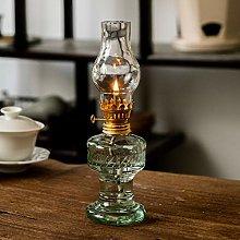 MYSY Glass kerosene lamp vintage lantern long lamp