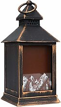MYXE Portable Realistic Fireplace Lantern, Usb and